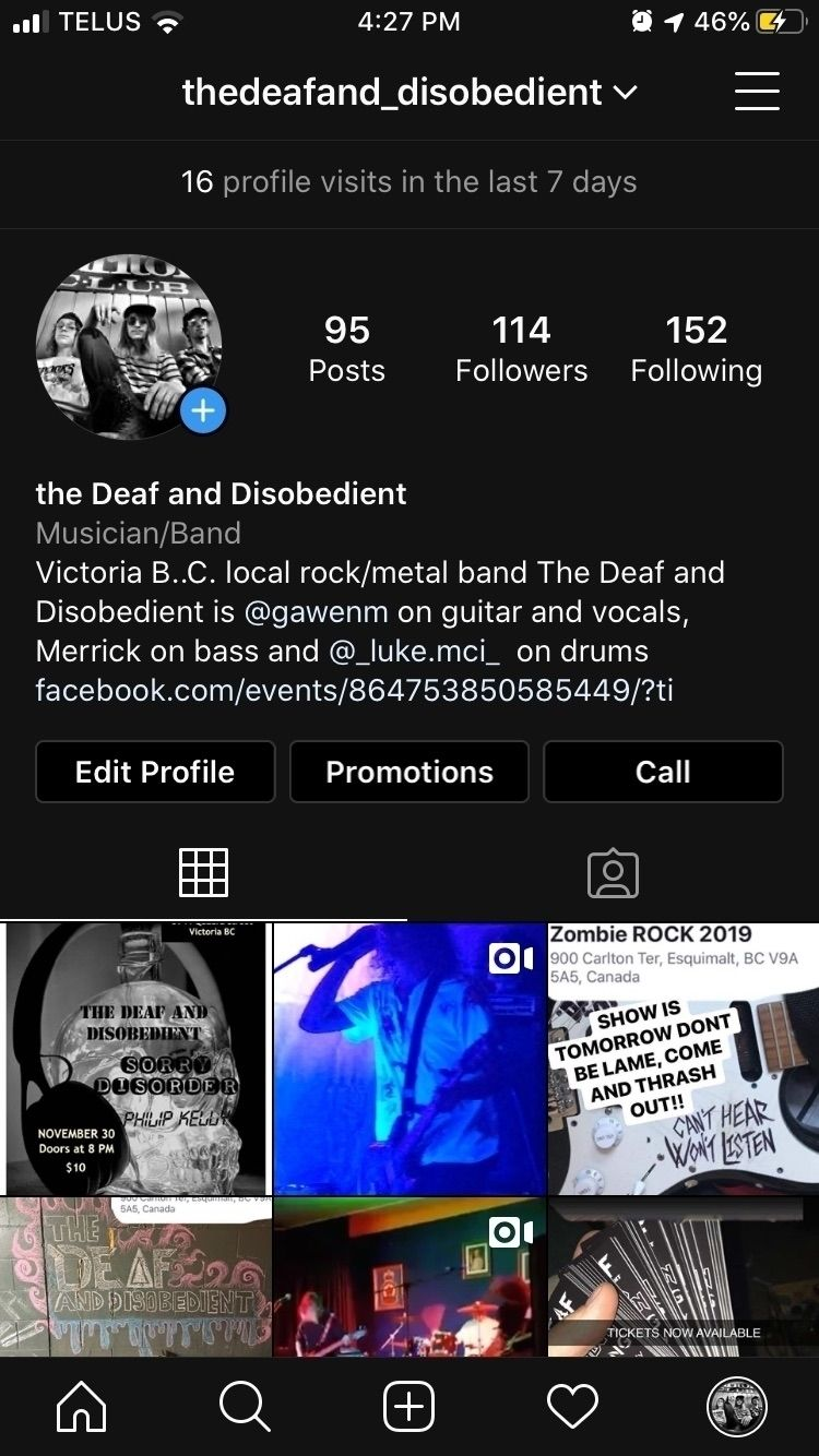 Hey guys thought mentioned band - thedeafanddisobedient | ello