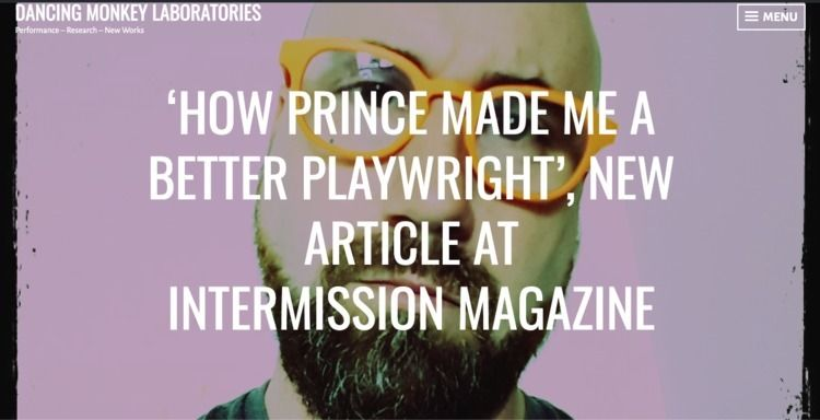 Article - Prince, Playwriting, PurpleRain - dancingmonkeylab | ello