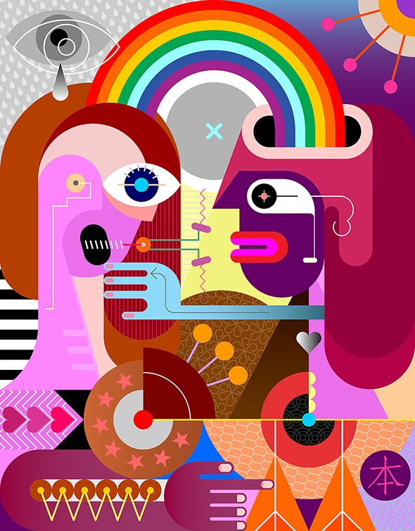 people rainbow - couple, woman, love - danjazzia | ello