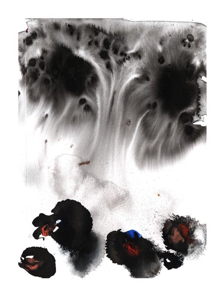 Hall Mushroom King, ink waterco - scottapeshot | ello