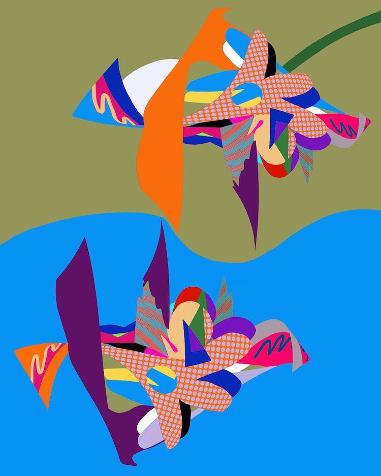 Sea Blue, Sky Gold 2019, digita - tonyvandenboomen | ello