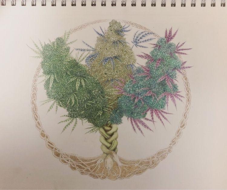 Weed life - stoner, cannabis, weed - mindsketchin | ello
