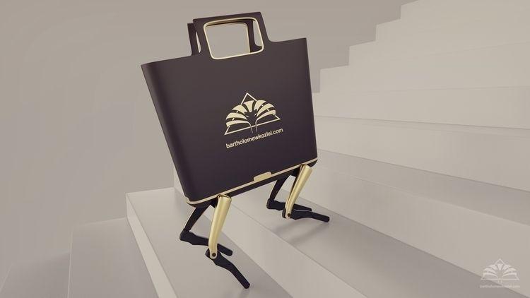 Walking shopping bag robot conc - bartholomewkoziel | ello