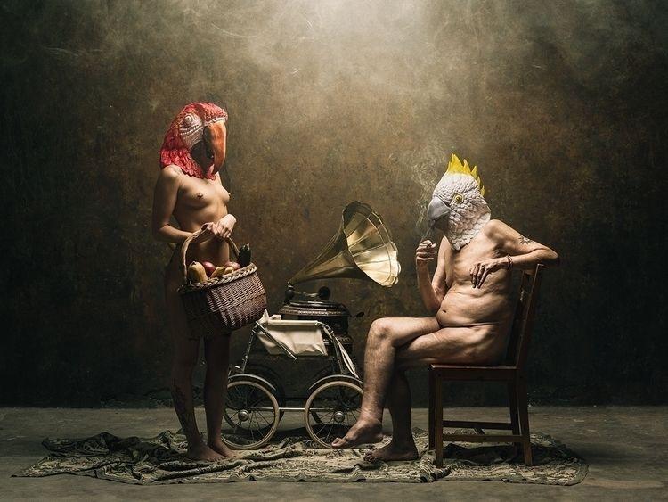 "Parrots"" – Photographer/Concept - darkbeautymag | ello"