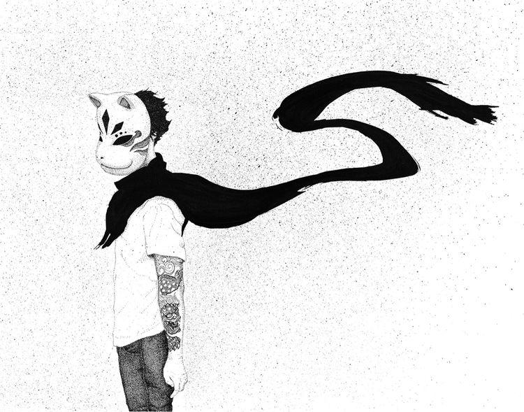 Anbu - illustration, ink, japan - herre84 | ello