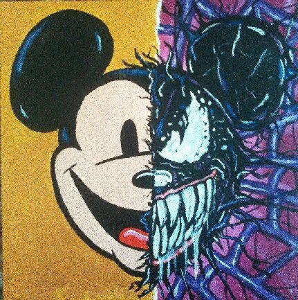 Mickey Venom (acrylic canvas - marina_m_artist | ello