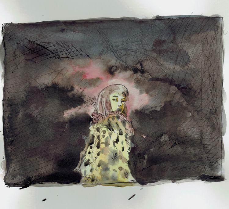 illustration, women, art, drawing - antoninguillot | ello