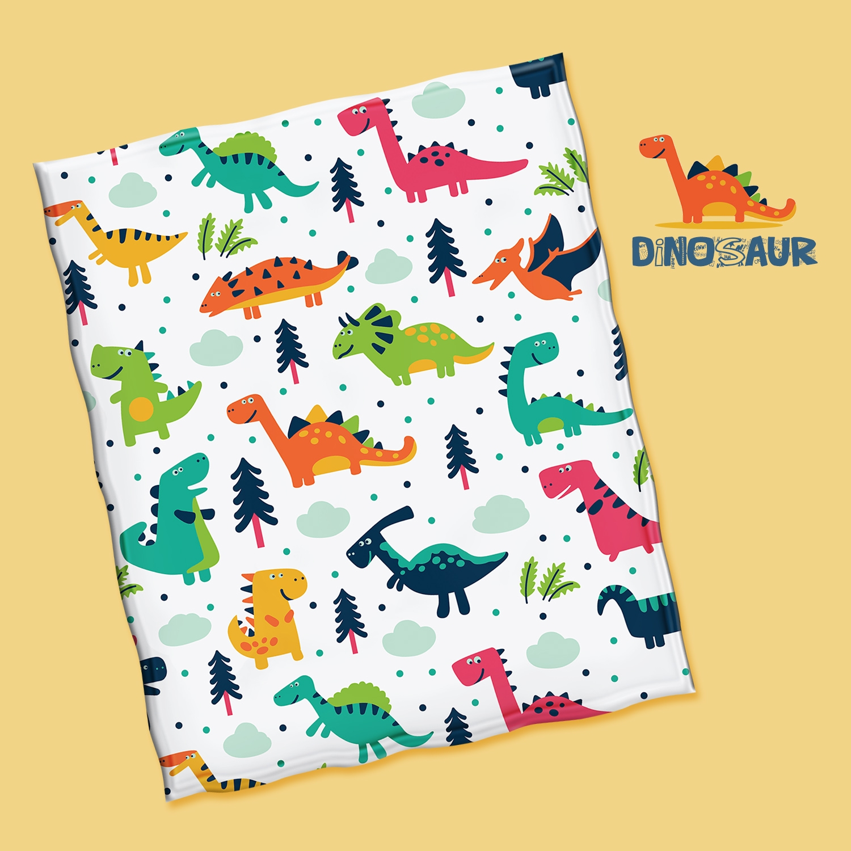 Cartoon dinosaur throw blanket  - ivysmith | ello