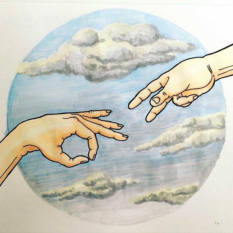 Ohne Brunnen - Illustration, pensketch - janssenjule | ello