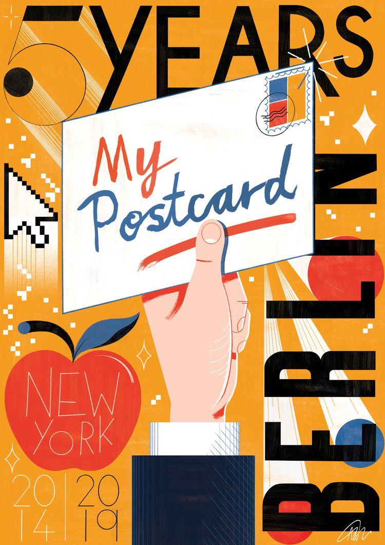 worked Postcard' celebrate 5 ye - mikedriver | ello