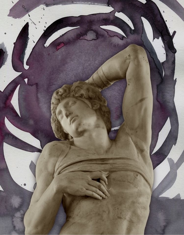 Tribute Dying Slave#collage - gravesart | ello