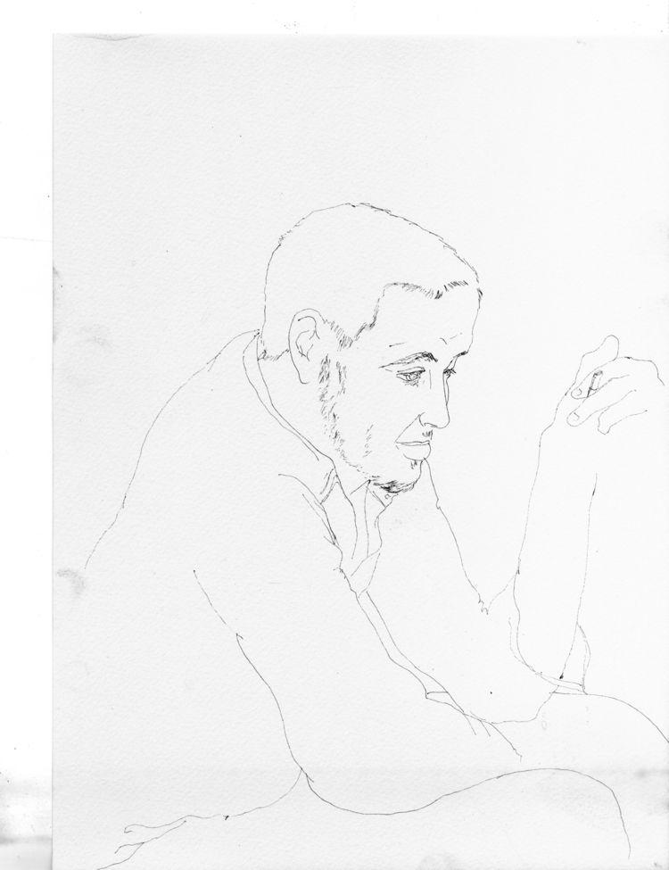man, illustration, love, lovedrawing - antoninguillot | ello