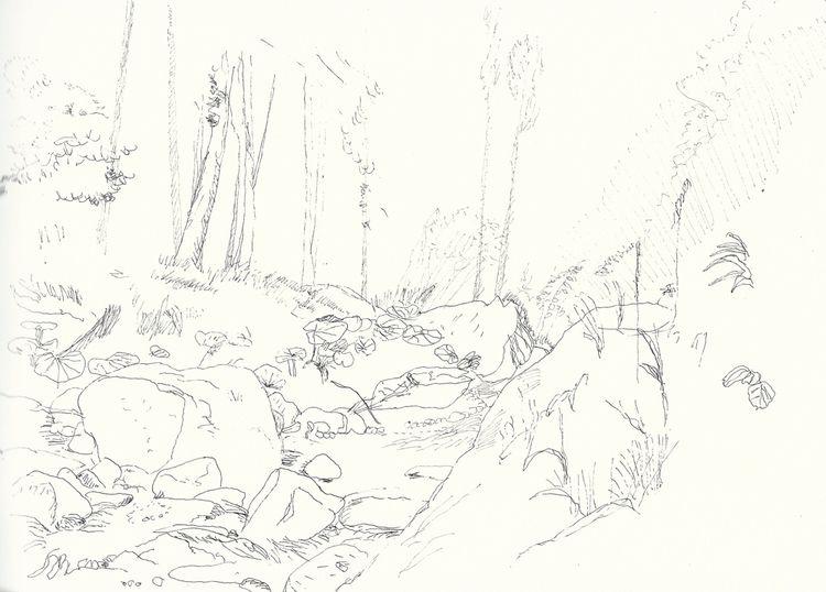 illustration, landscape, drawing - antoninguillot | ello