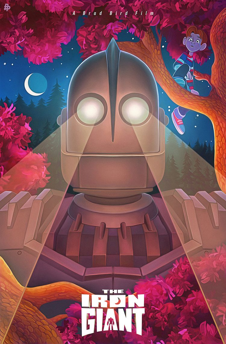 Iron Giant illustrated poster,  - nickybarkla | ello