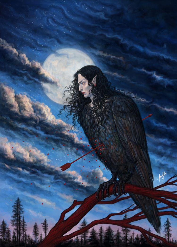 digital artwork ' son Harpy :co - annaorca | ello