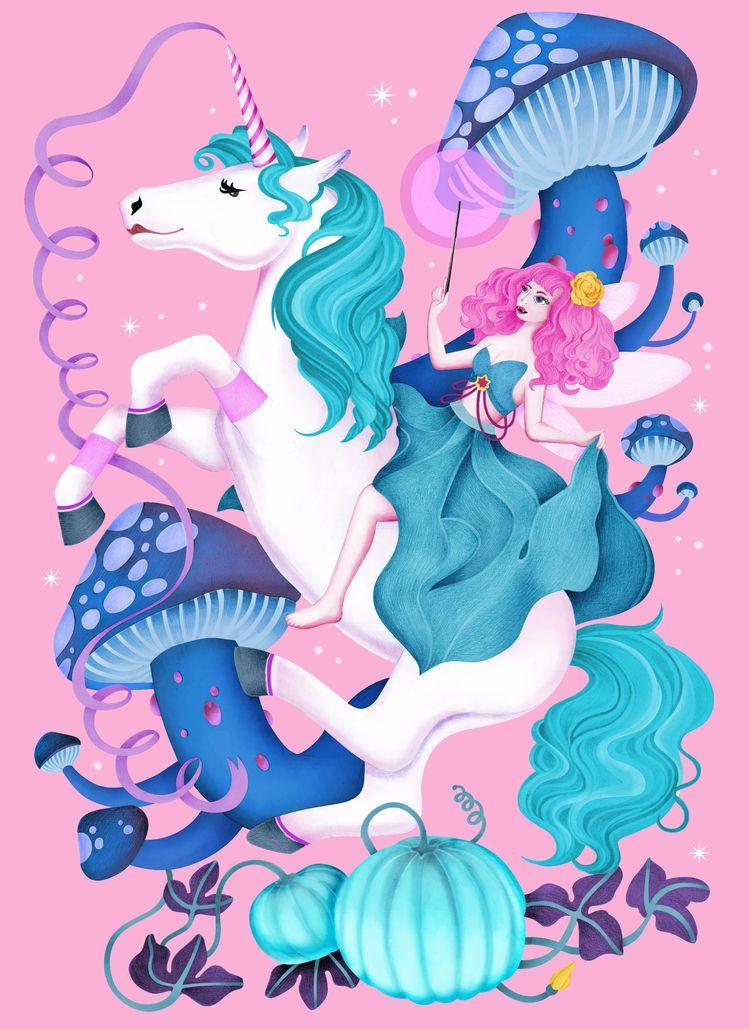 illustration, posterdesign, unicorn - jutta-kivilompolo | ello
