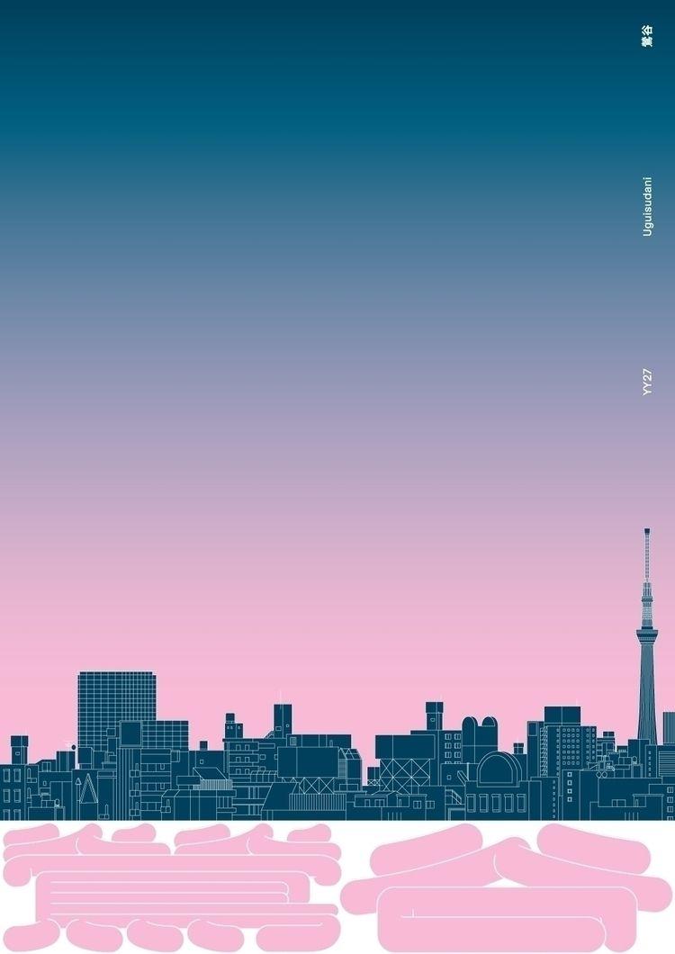 Poster YY27 Uguisudani - 鶯谷 Yam - wulffgraphics | ello