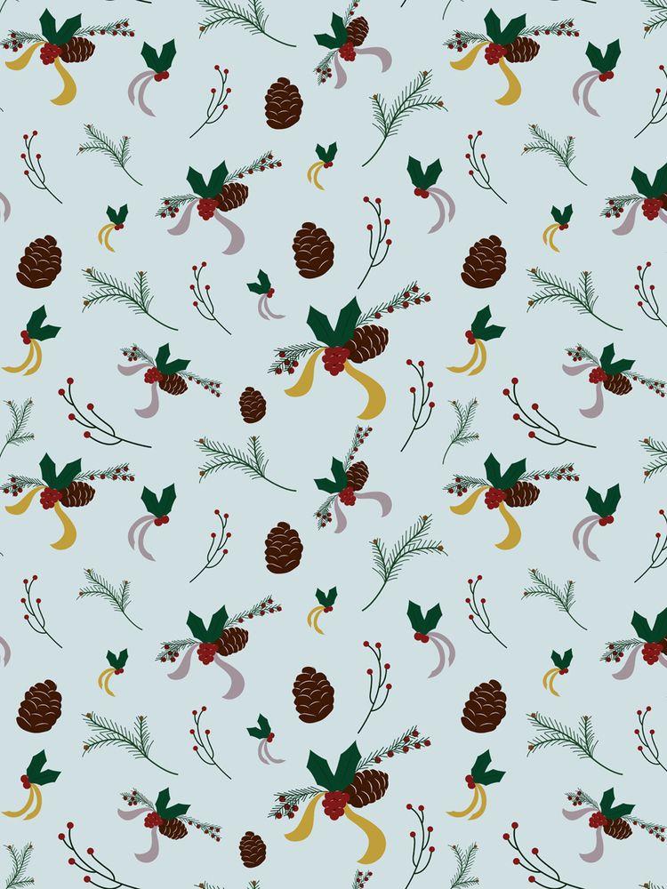 Holly, pine cones branches. win - svaeth | ello