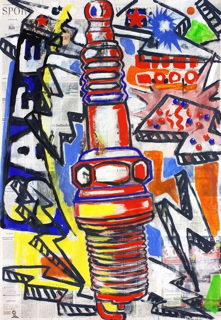 Hommage à Spark Plug 03, painti - boraistudio | ello