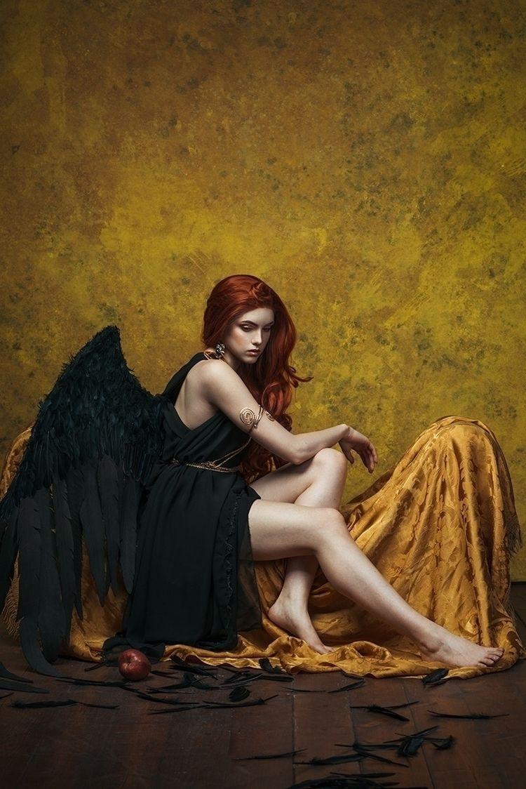 """Fallen Angel"" – Photographer:  - darkbeautymag | ello"