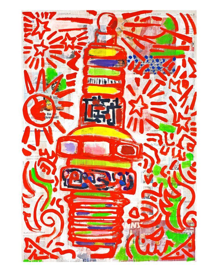Hommage à Spark Plug 01, painti - boraistudio | ello