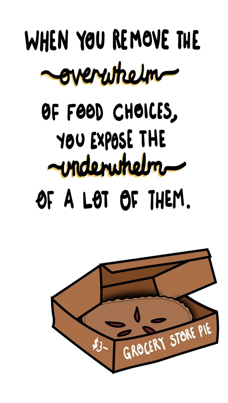 remove overwhelm food choices,  - danisheriff | ello