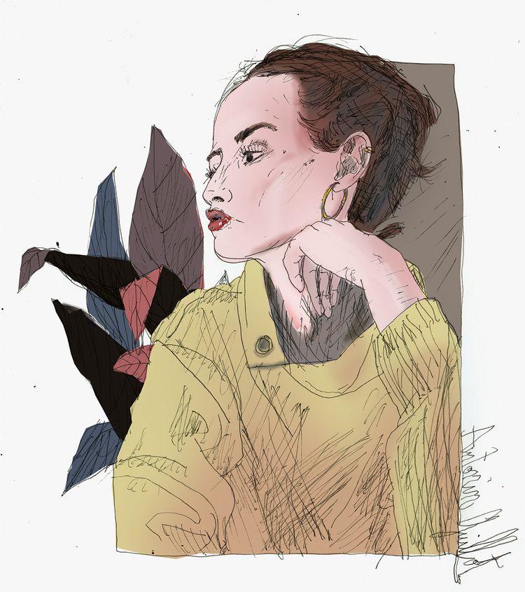 portrait, women, dessin, drawing - antoninguillot | ello