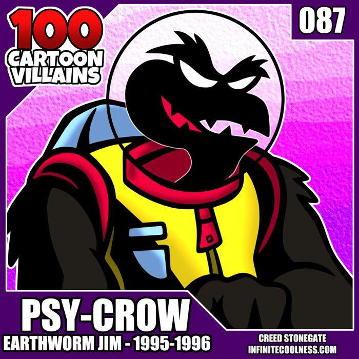 100 Cartoon Villains - Psy-Crow - creedstonegate | ello
