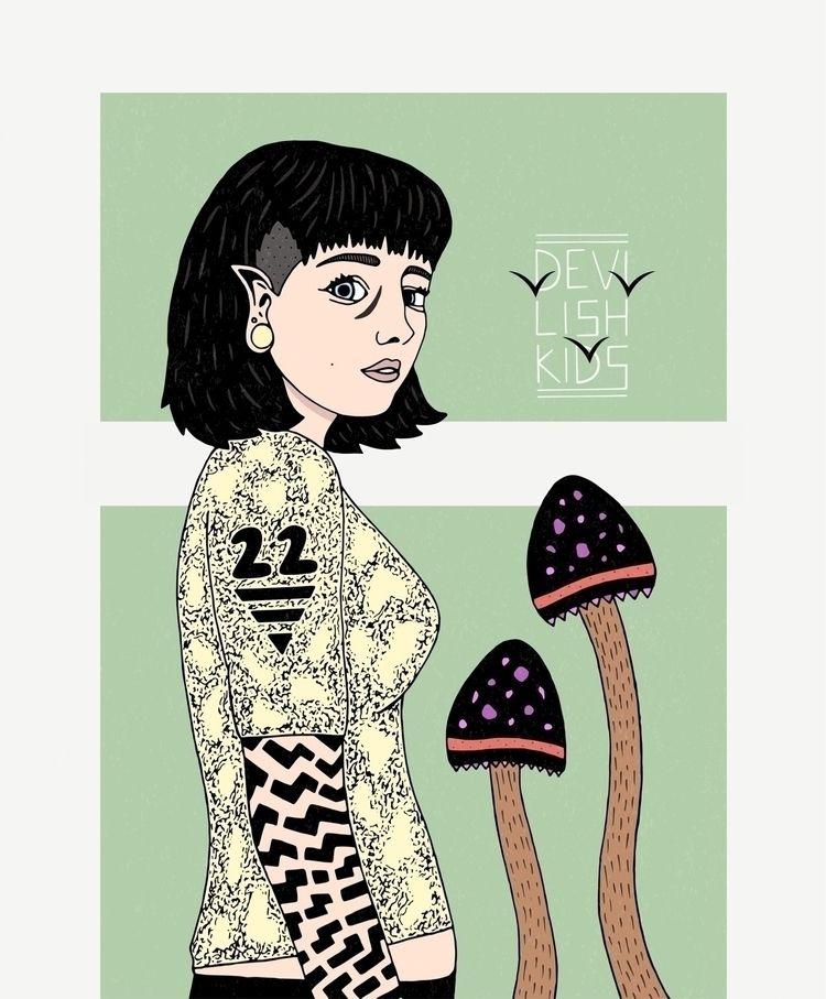 Maddy Mushroom  - illustration, digitalart - devilishkids | ello