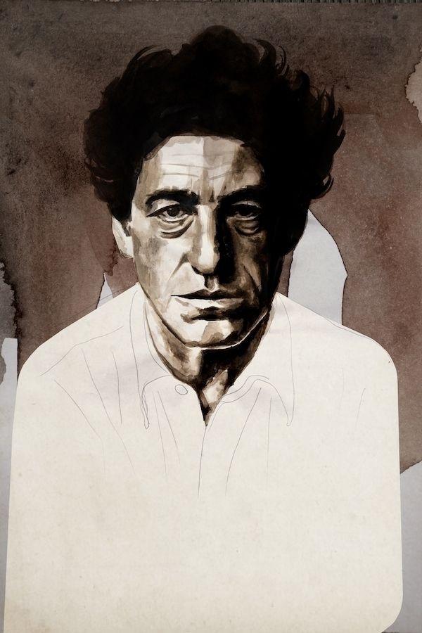 Alberto Giacometti Ink paper, 2 - daviddiehl   ello