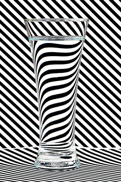 glass water shot striped backgr - stevepurnell | ello