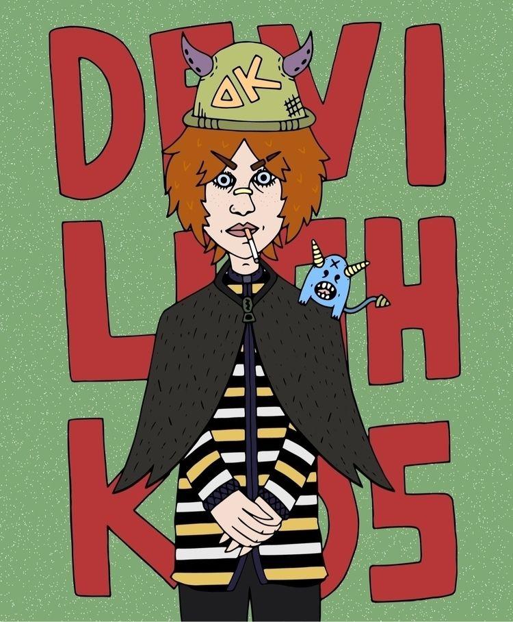 Drunk Kids Vol. 1  - illustration - devilishkids   ello