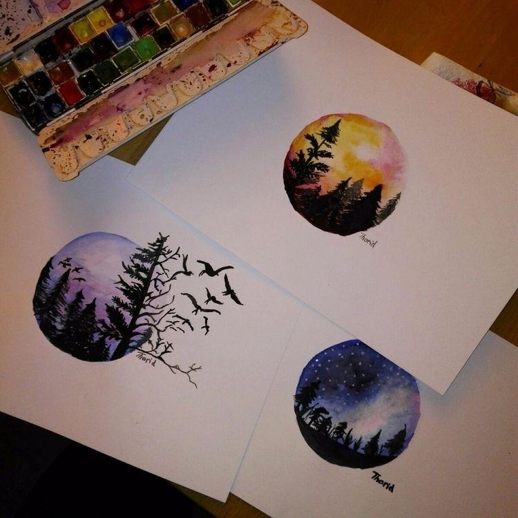 Forests aquarelle - mrslovemylife   ello