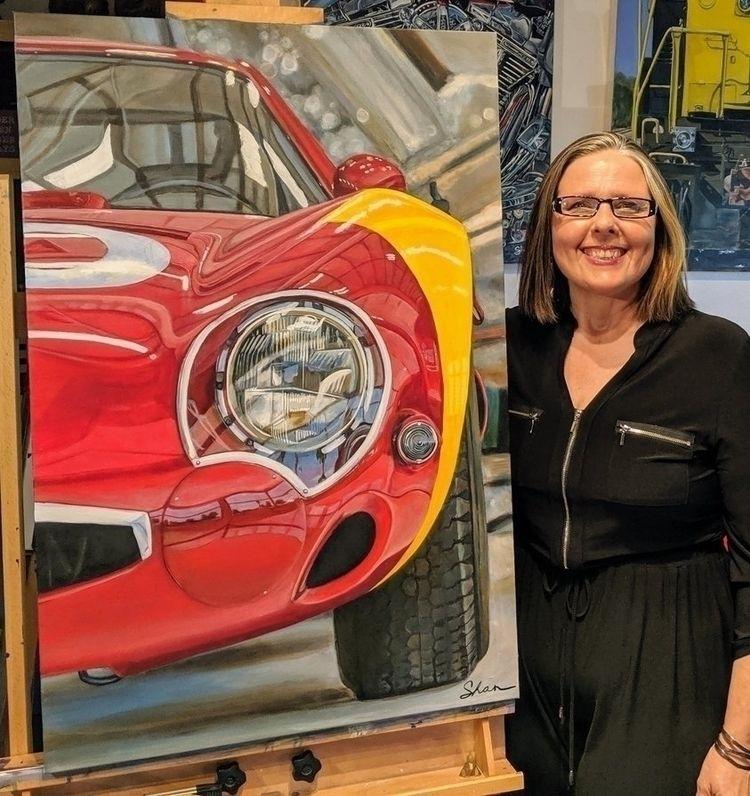 1966 Alfa Romeo TZ2 artist Shan - shanfannin | ello