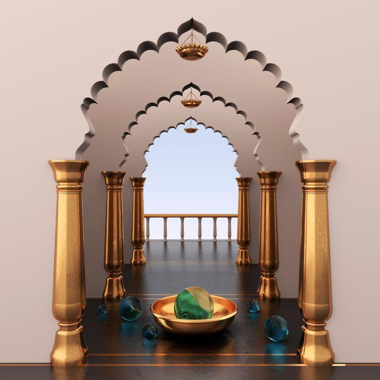 Rajasthan - 3D, cinema4d, redshift3d - kshitijmehra | ello