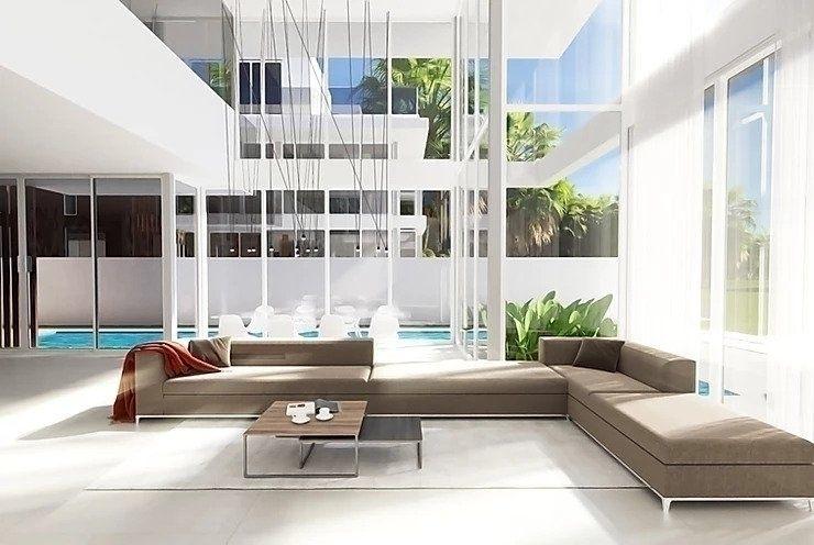 mirrored courtyard house design - rexnicholsarch | ello