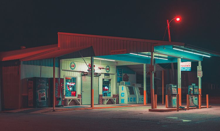 Country Gas Station, 2020, Grea - anthonypresley | ello