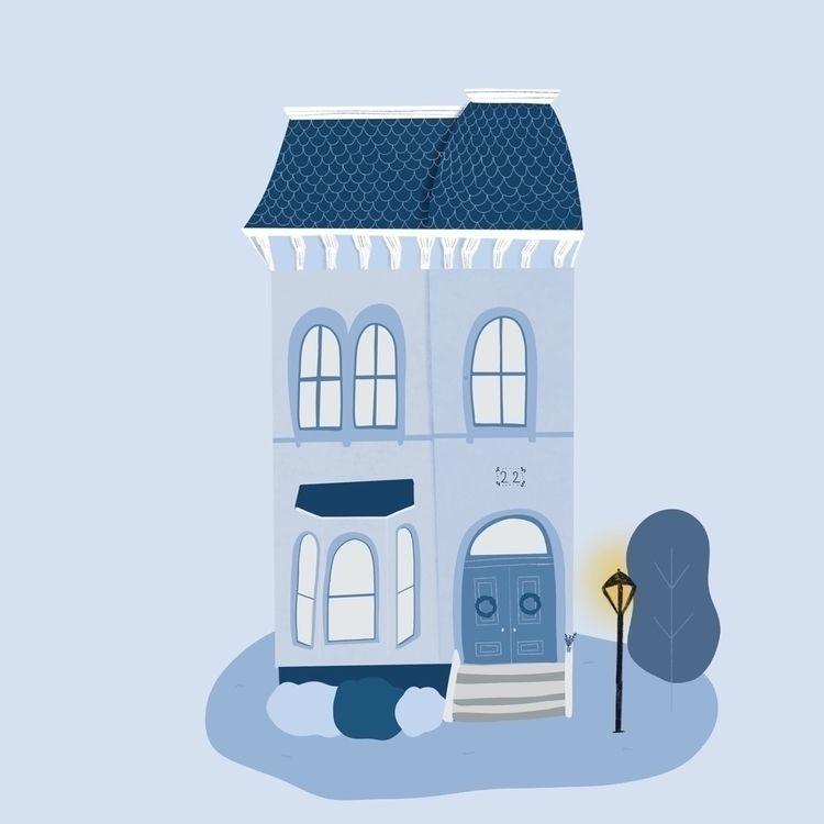 Blue house color peaceful ! fav - helloelpi | ello
