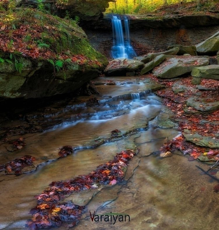 autumn morning Bluehen falls, C - varaiyan | ello