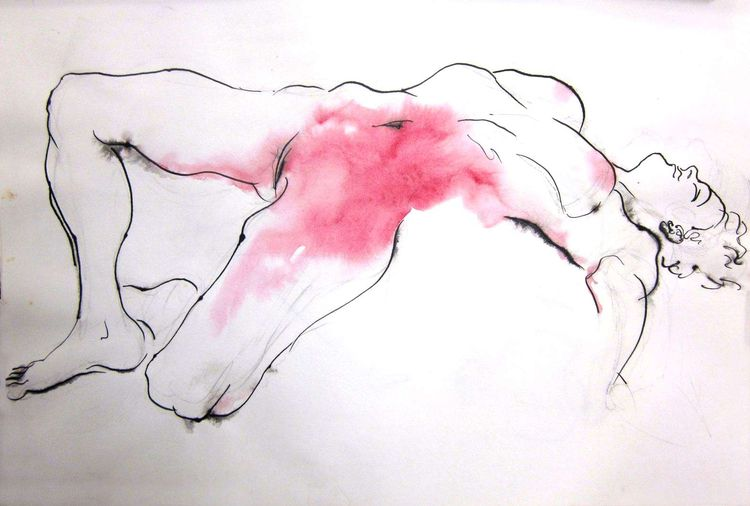 Pink Vio. ink watercolor paper - pfelelep | ello