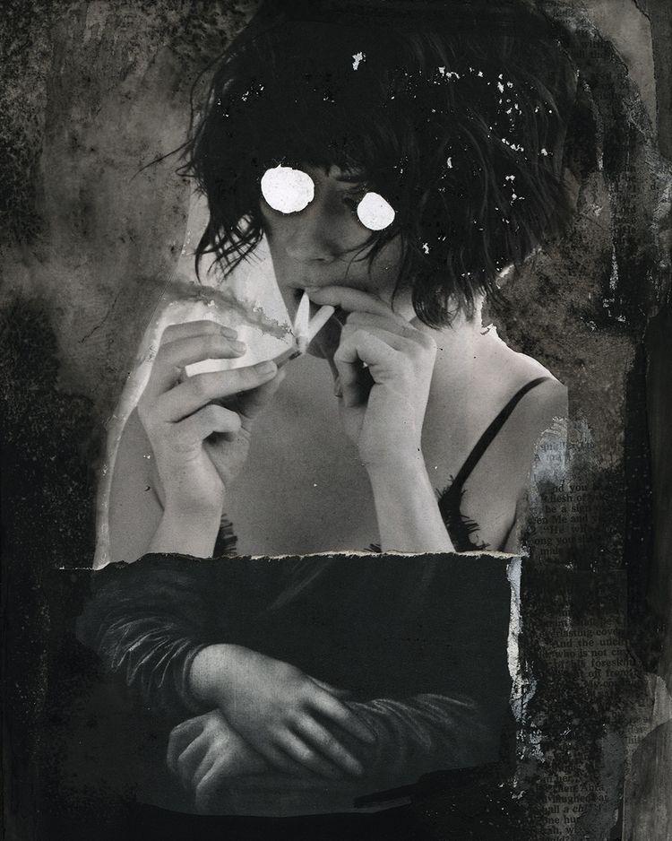 "Burn"" - Mixed Media Dale Mateo  - dalemateoart   ello"