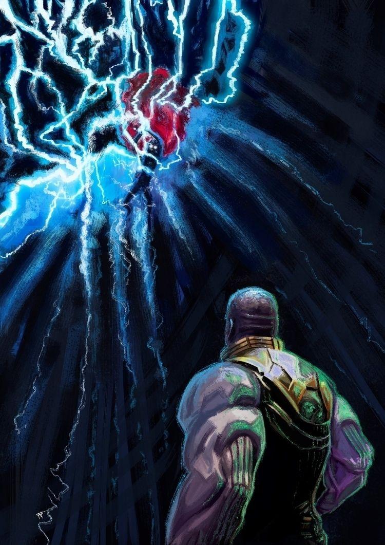 Thanos Thor - thanos, thor, avengers - franconioi92 | ello
