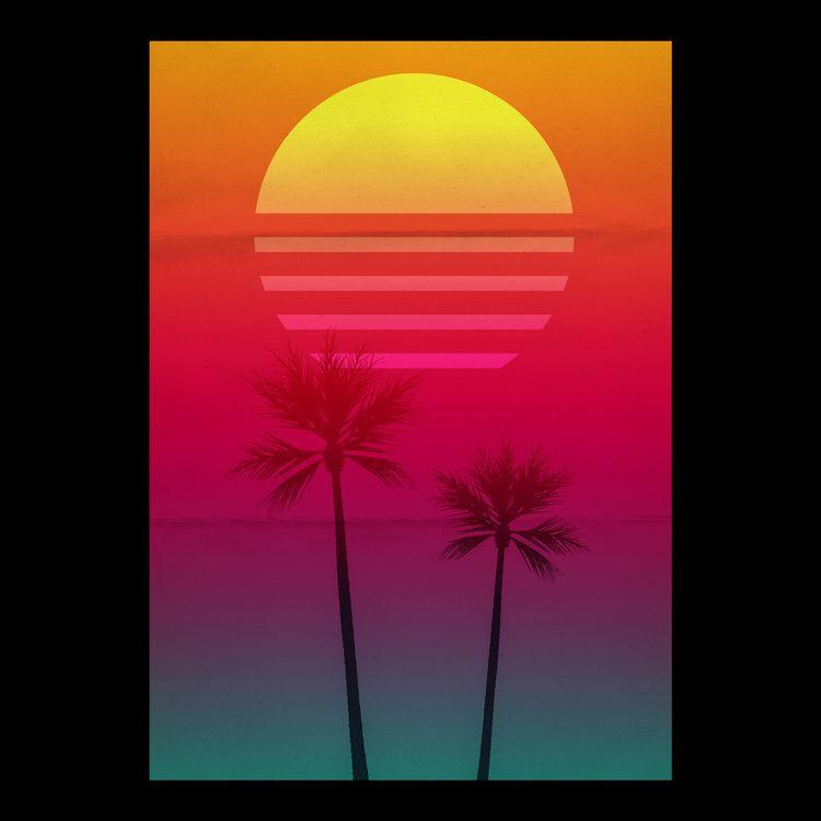 Late afternoon - poster, gradient - andrelopesbatista | ello
