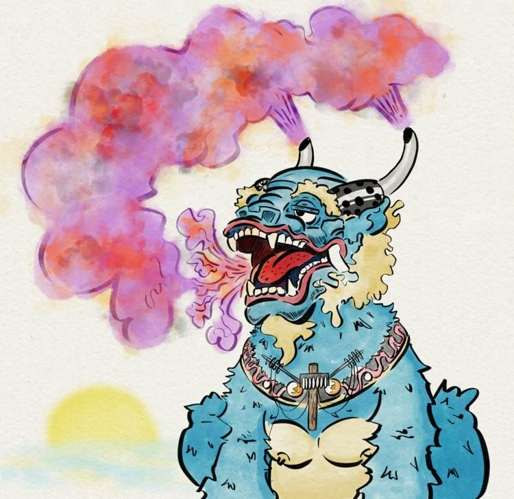 Nebul Dragon - illustration, drawing - discoego | ello