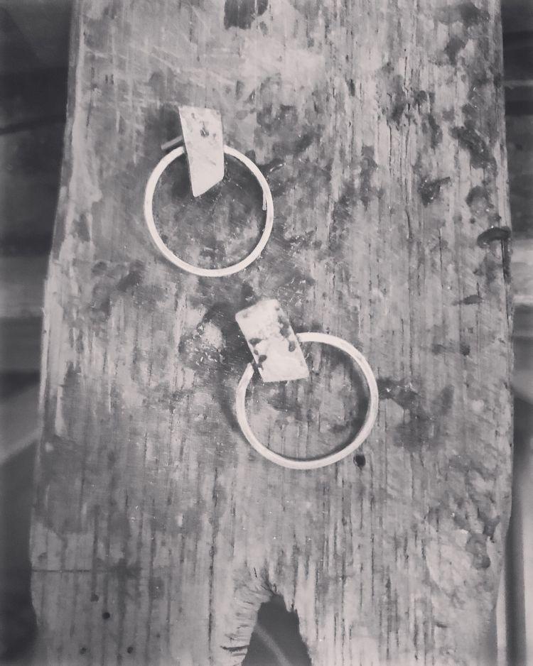Earrings. Brass recovered silve - mariaelen | ello