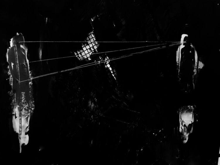 Playing Telephone - collage - lagomorphosis   ello
