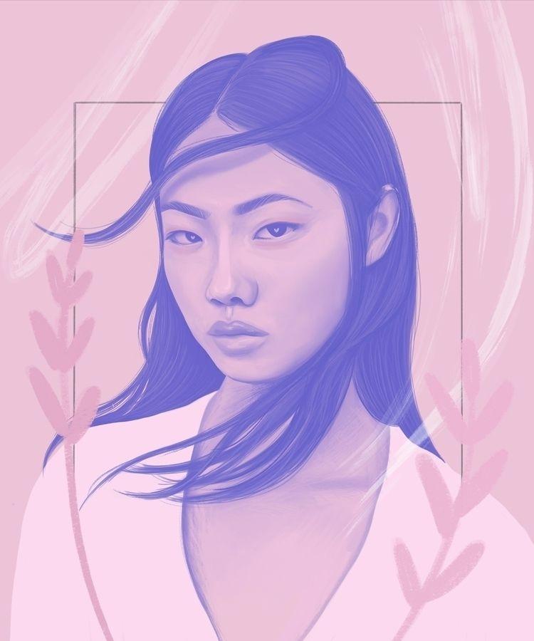illustration - pink, portrait - polilovi | ello