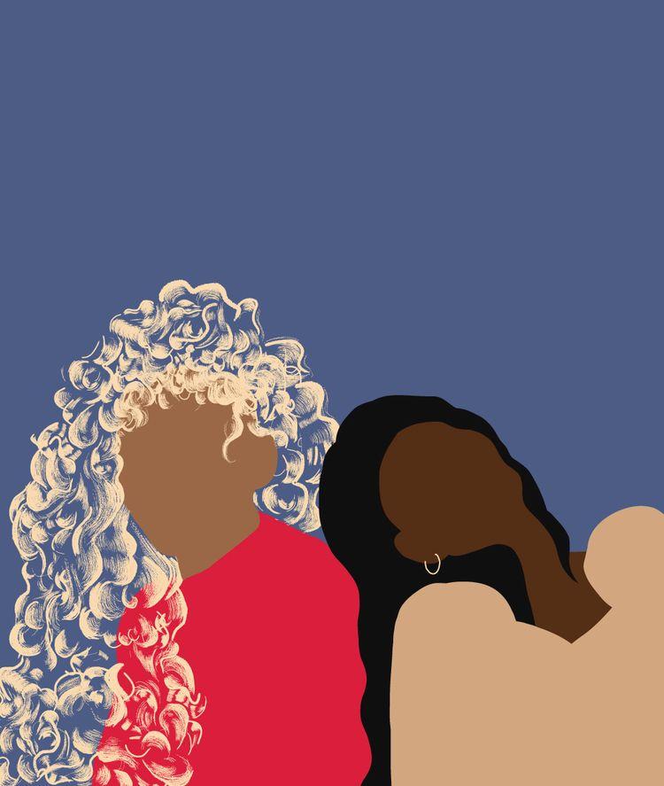 Sisters - illustration, portrait - ievarag1 | ello