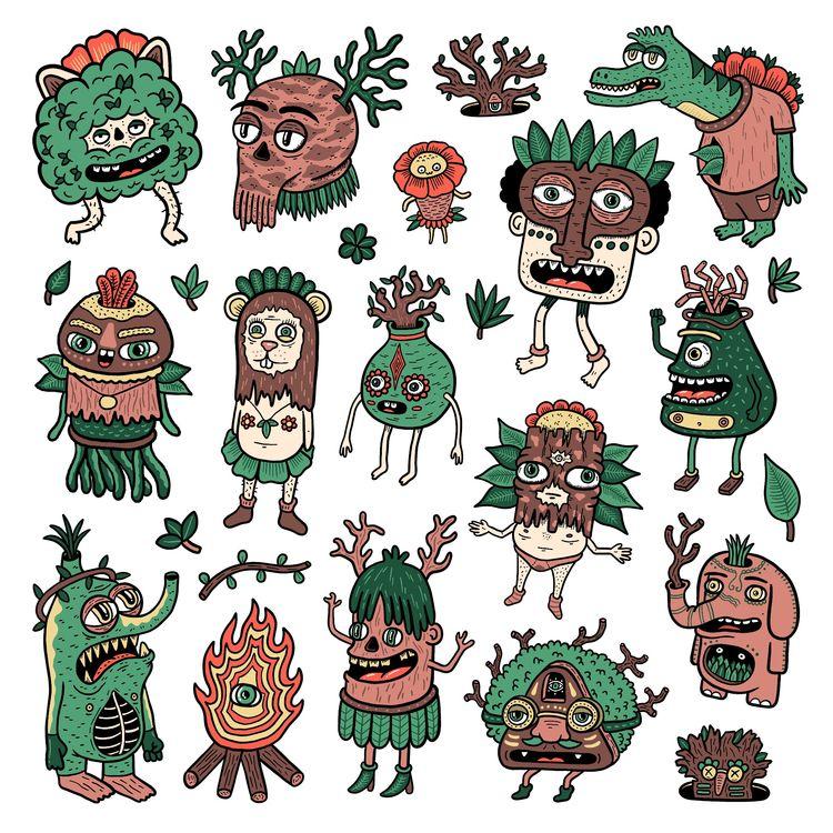 creatures Upside - illustration - douglascavanna | ello
