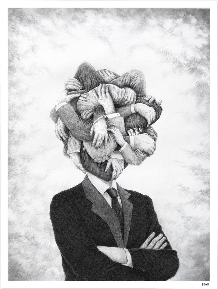 Head Full Ink pencil paper 60x8 - klemt   ello